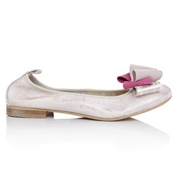 Baleriny damskie 92/61 LIGHT PINK131/FUCHSIA